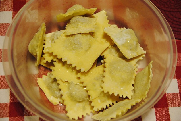 Frozen home made ravioli