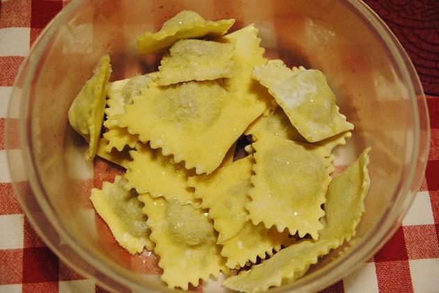 Frozen home made ravioli