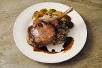 Veal chops with balsamic glaze