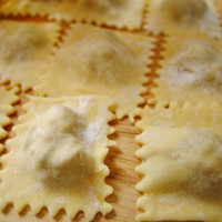 Adventures in pasta-making: Sweet sausage ravioli with tomato sauce