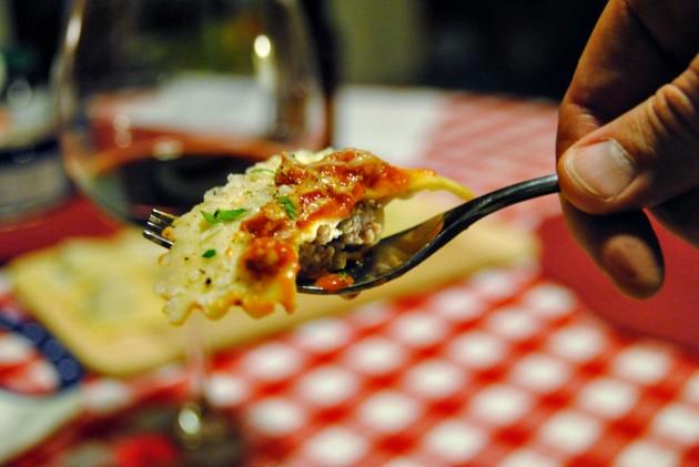 Sausage ravioli