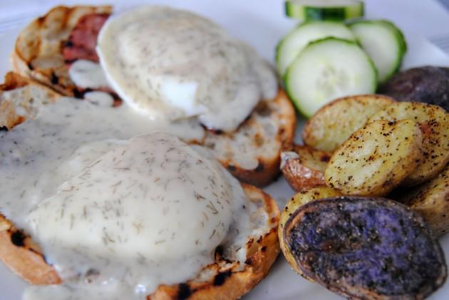 Polish eggs benedict