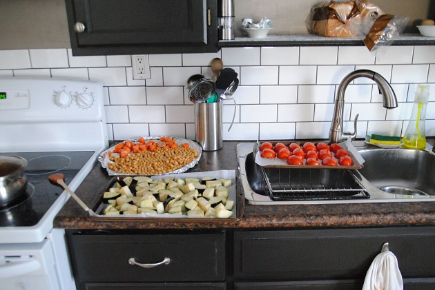 Roasting veggies