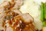 Pork tenderloin with whiskey maple sauce