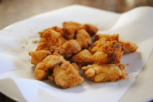 Fried chicken pieces
