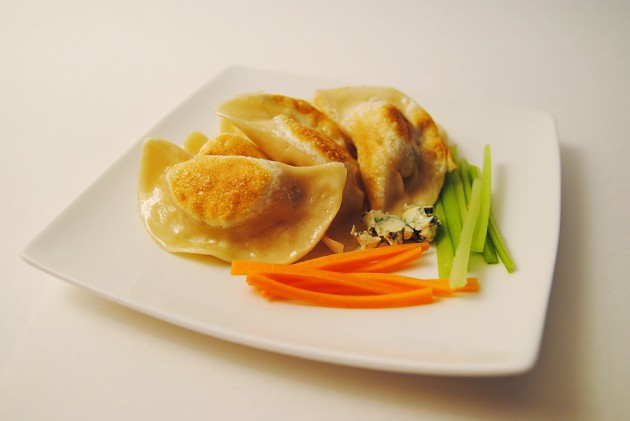 Buffalo chicken wing perogies