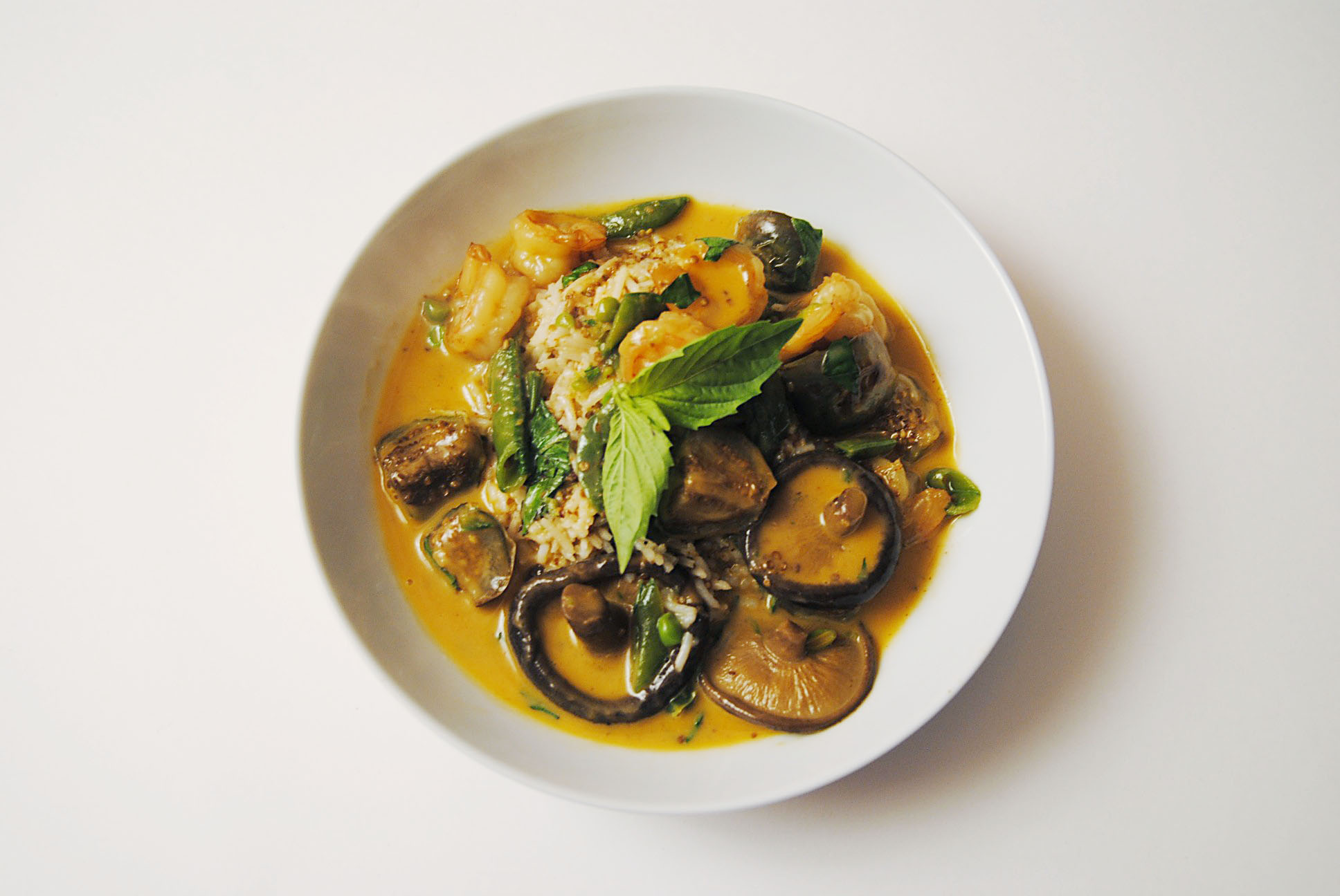 Thai red curry shrimp with eggplant | Soph n' Stuff