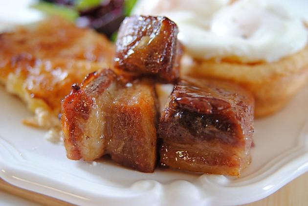 Maple caramelized pork belly