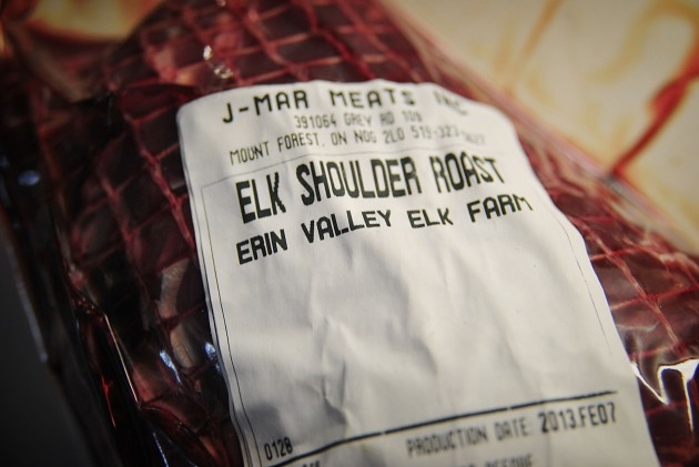 The elk shoulder roast