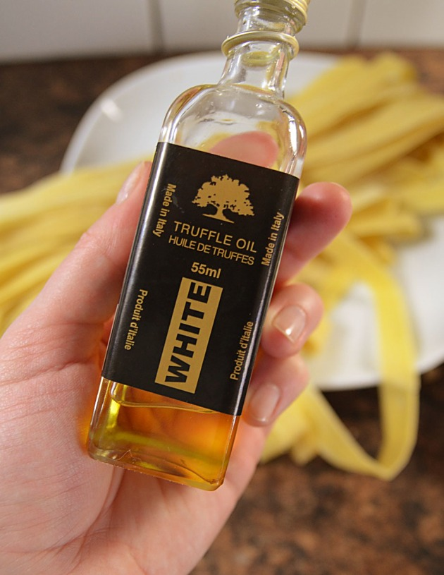 Decadent white truffle oil