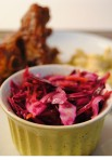 Vinegar-dressed cole slaw