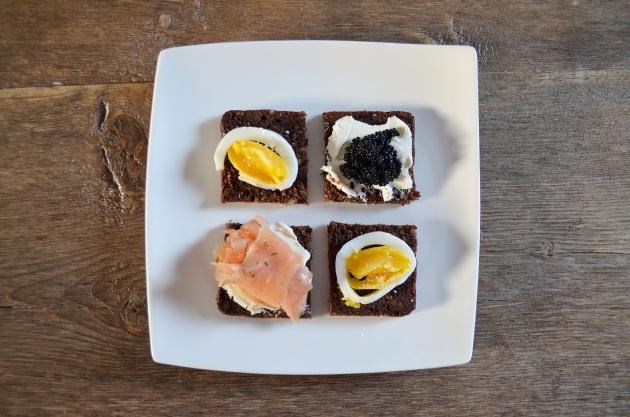 Sweden breakfast sandwiches