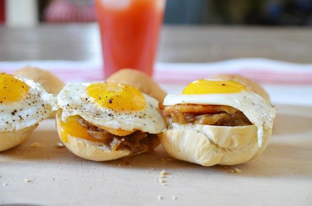 Canadian breakfast sandwiches