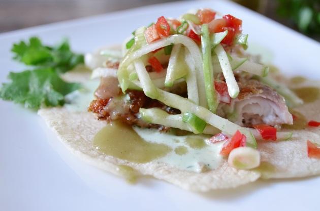 Jerk fish tacos