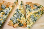 Spinach and artochoke dip pizza